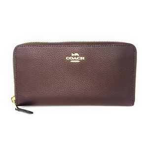 NWT Coach Zip Around Wallet